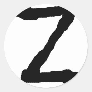 LetterZ Round Sticker