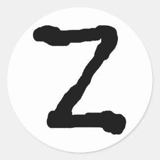 LetterZ Round Stickers