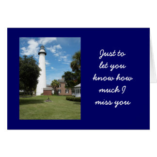 Letting You know How Much I Miss You Greeting Card