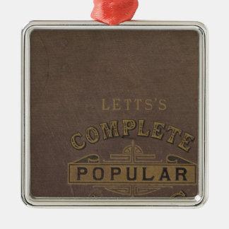 Letts's popular atlas Silver-Colored square decoration