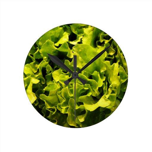 Lettuce Round Wall Clock