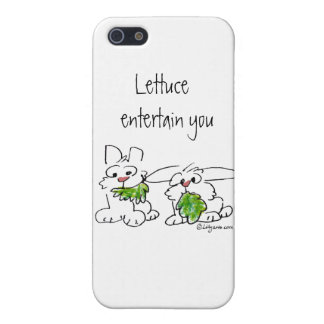 Lettuce Entertain U Cartoon Rabbits Case For iPhone 5/5S