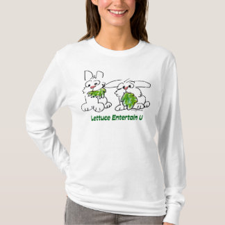 Lettuce Entertain U Cartoon Rabbits T-Shirt