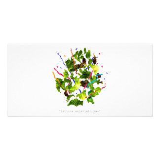 lettuce entertain you - dark photo greeting card