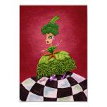 Lettuce Lady 9 Cm X 13 Cm Invitation Card