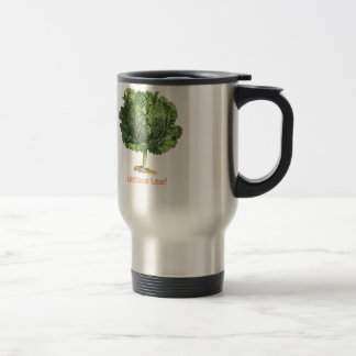 """Lettuce Leaf"" Vintage lettuce image Stainless Steel Travel Mug"