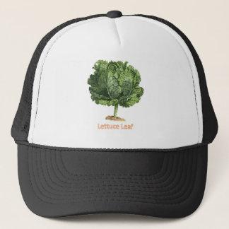 """""""Lettuce Leaf"""" Vintage lettuce image Trucker Hat"""