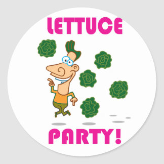 Lettuce PARTY! Round Sticker