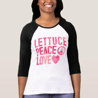 Lettuce Peace Love Ladies Plant Based Foodie Shirts