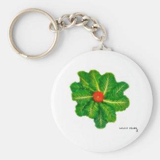 Lettuce Pray Basic Round Button Key Ring