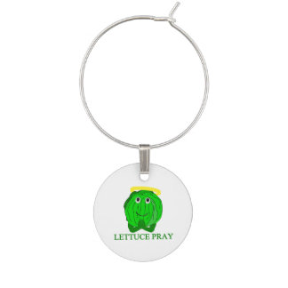 Lettuce Pray Wine Glass Charms