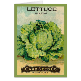 Lettuce Seed Pack Greeting Card