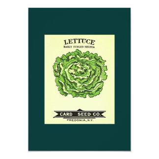 Lettuce Seeds Card Seed Company 13 Cm X 18 Cm Invitation Card