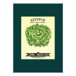 Lettuce Seeds Card Seed Company Custom Invite