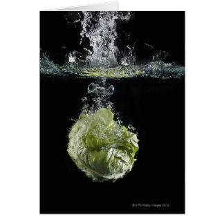 Lettuce splashing in water card
