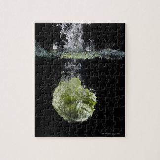 Lettuce splashing in water jigsaw puzzle