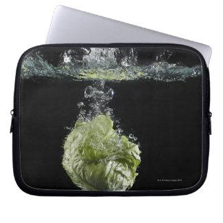 Lettuce splashing in water laptop sleeve