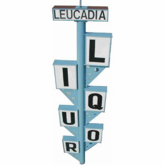 LEUCADIA STAND UP SIGN STANDING PHOTO SCULPTURE