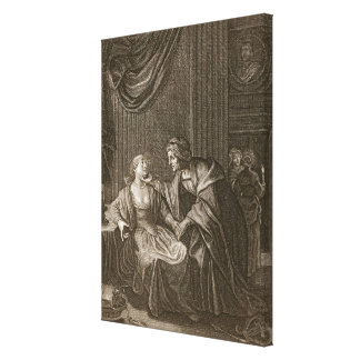 Leucothoe Seduced by Apollo in the Shape of Euryno Canvas Print