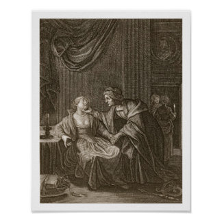 Leucothoe Seduced by Apollo in the Shape of Euryno Poster