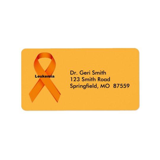 Leukaemia Address Label