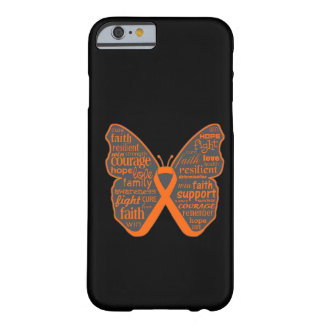 Leukaemia Butterfly Collage of Words Barely There iPhone 6 Case