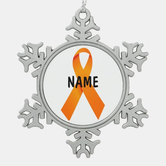 Leukaemia Christmas Ribbon Ornament