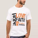 Leukaemia Hope Love Faith T-Shirt