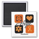 Leukaemia Hope Love Inspire Awareness Fridge Magnet