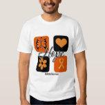 Leukaemia Hope Love Inspire Awareness T Shirt