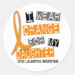 Leukaemia I Wear Orange For My Daughter 37 Stickers