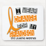 Leukaemia I Wear Orange For My Grandson 37 Mousepads
