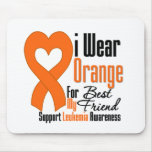 Leukaemia I Wear Orange Ribbon For My Best Friend Mouse Mats