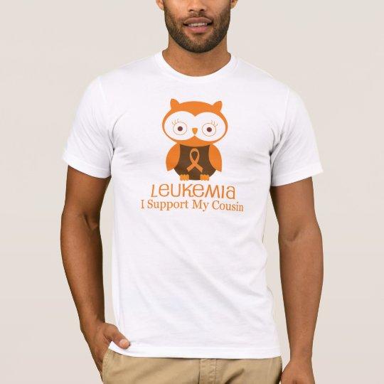 Leukaemia Orange Ribbon Owl  Cousin T-Shirt