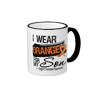 Leukaemia Ribbon For My Son Ringer Mug
