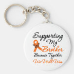 Leukaemia Supporting My Brother Keychains