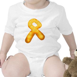 Leukemia Awareness Candle Ribbon Baby Bodysuit