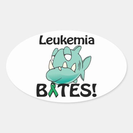 Leukemia BITES Oval Stickers
