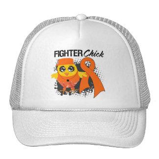 Leukemia Cancer Fighter Chick Grunge Mesh Hats