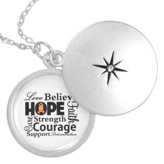 Leukemia Collage of Hope Personalized Necklace