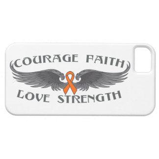 Leukemia Courage Faith Wings iPhone 5/5S Covers
