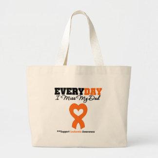 Leukemia Every Day I Miss My Dad Tote Bag