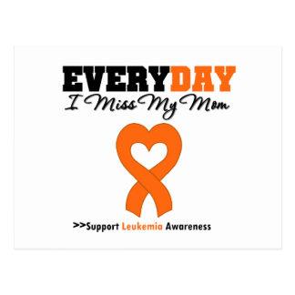 Leukemia Every Day I Miss My Mom Postcard