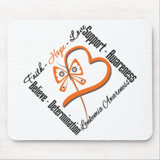 Leukemia Faith Hope Love Butterfly Mouse Pad