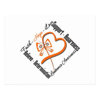Leukemia Faith Hope Love Butterfly Postcard