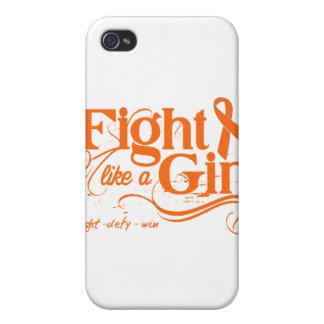 Leukemia Fight Like A Girl Elegant iPhone 4 Cases