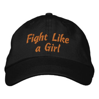 Leukemia Fight Like a Girl Embroidered Hats