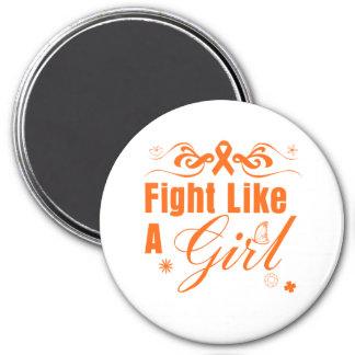 Leukemia Fight Like A Girl Ornate Fridge Magnets