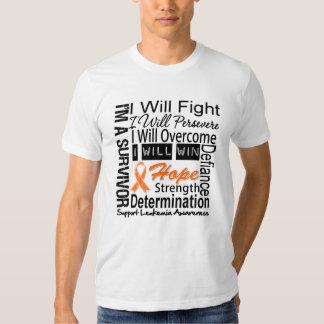 Leukemia Fight Persevere Overcome Win T-shirt