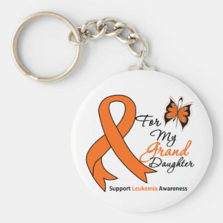 Leukemia - For My Granddaughter Basic Round Button Key Ring